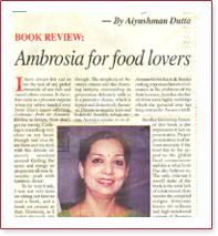 BOOK REVIEW - Ambrosia for food lovers