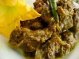 Rangalour gutire Patha manxor (Mutton with pumpkin seeds)